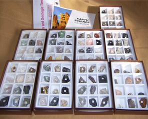 进口标本--地球科学矿物标本基础套装(105种)